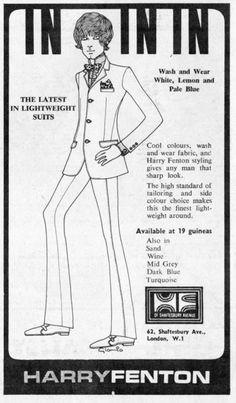 ba9f89ef78c 1960 s Harry Fenton ad from Britain. Advertising