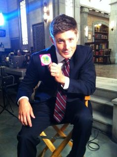 Idk what the sticker is for but Jensen Ackles in a suit? Mhmmmmm....
