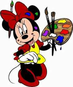Alfabeto de Minnie Mouse pintando.