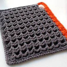 8 Beautiful Crochet Potholders - This is a 3D granny square pattern