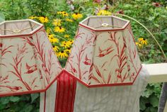 Vintage French Toile Bird Lamp Shade by lampshadelady on Etsy, $85.00