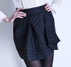Michel Klein Black Short skirt #luxury #modewalk