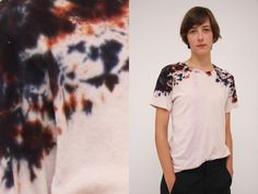 Hand painted tie dye splatter t-shirt