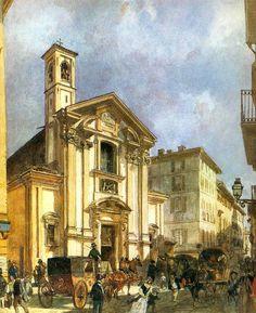 Riccardi Luigi (1808-1877) - San Giovanni in Laterano già in via Tre Alberghi, Milano (1850)