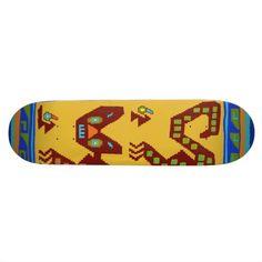 Peruvian Inca ancient tribal symbol of loyalty skateboard design on Zazzle.com/WitchesHammer