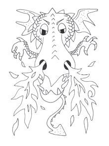 Image Result For Medieval Dragon Face Coloring Page Dragon