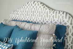 Make this headboard with step by step tutoiral A Little Tipsy: DIY Headboard