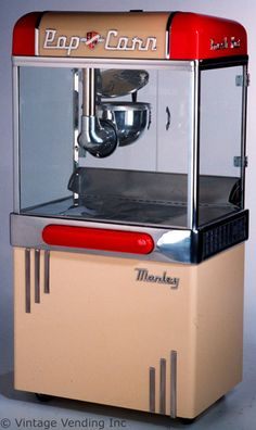 Fully restored Manley vintage popcorn machine. Every home theater needs one of these.