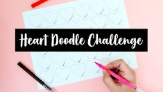 Heart Doodle Challenge | Sea Lemon Heart Doodle, My Doodle, Drawing Art, Art Drawings, Lemon Drawing, Lemon Art, Fun Challenges, Art Challenge, Doodles