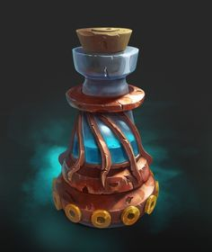 Prop Design, Game Design, Dungeons And Dragons Art, Magic Bottles, Casual Art, Game Props, Game Icon, 3d Drawings, Game Assets