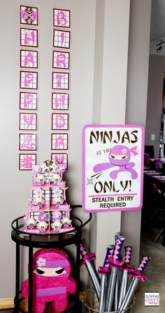 TREND ALERT - How to Host a Pink Ninja Party for Girls! -