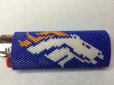 Denver Broncos Bic Lighter Cover 01