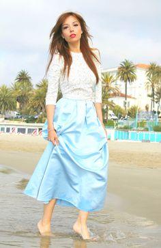 cinderella skirt asos outfit mango lace top theladycracy.it elisa bellino fashion editorial 2