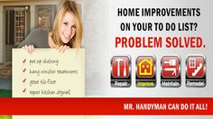 Professional Handyman Services from Mr. Handyman: Help for Hire Fix Leaky Faucet, Floor Tile Grout, Civil Construction, Paint Companies, Window Repair, Home Repairs, Free Quotes, Home Improvement Projects, Be Yourself Quotes