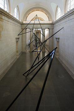 Eva Rothschild, Cold Corners. 2009, installation at Tate Britain, powder coated aluminium