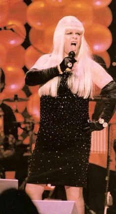 Elton in drag