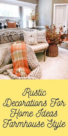 Rustic Decorations For Home Ideas Farmhouse Style Country Rustic Decorations For Home Ideas Country Chic, Country Decor, Rustic Decor, Rustic Kitchen Design, Kitchen Designs, Home Bedroom, Bedrooms, Log Cabins, Joanna Gaines