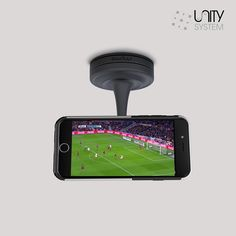 Now you can watch the #game or your favorite #show anywhere you are. Myme #strong suction base can hold your device at any angle. #phone #iphone #technology #durability #photo #phonecases #mymeunitysystem #case #cradle #Myme #360degrees #colors #new #realsimple