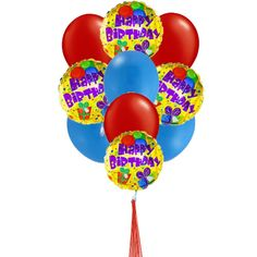 Colorfull Birthday Balloons Price US3999 Say Happy With YellowBlue And Red