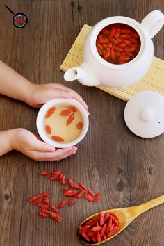GOJI BERRY TEA. Easy does it !! :)