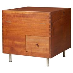 Bar Cabinet Model 8034, Designed by Hans Wegner for Andreas Tuck, 1956 | From a unique collection of antique and modern cabinets at https://www.1stdibs.com/furniture/storage-case-pieces/cabinets/