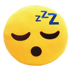 Brand New Emoji Sleeping Emoticon Cushion Pillow Stuffed - Material: Polyester…