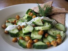 Healthy Recipe: Roasted Chickpea and Cucumber Salad