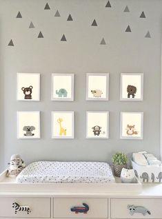 Baby Animal Nursery Art Nursery Prints Zoo Nursery Wall Art