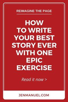 Write your best story ever with this one epic exercise. It's simple, powerful, and long forgotten. And, it's easy to add to your daily writing routine!