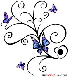 Pictures Butterfly Tattoos on Butterfly Tattoo Album 4 Tattoo Art Gallery Butterfly With Flowers Tattoo, Butterfly Tattoo Cover Up, Tribal Butterfly Tattoo, Butterfly Tattoo Designs, Flower Tattoos, Butterflies, Butterfly Design, Butterfly Colors, Butterfly Project