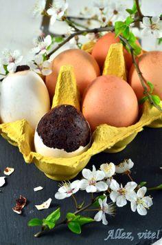Kuchen im Ei / Easter cake in eggshells / Kuchen in der Eierschale Osteridee Osterinspiration Ostergeschenk