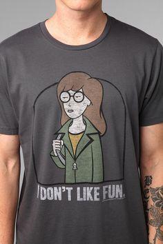 Junk Food Daria - 'I Don't Like Fun' Tee #urbanoutfitters $18 #maleshirt #malefashion