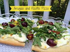 Squat. Eat. Repeat.: Pizza with Ricotta, Arugula, and Grapes