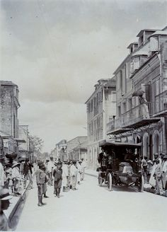 Guadeloupe is an insular region of France located in the Leeward Islands, part of the Lesser Antilles in the Caribbean. Administratively, it. Pointe A Pitre, Places Around The World, Around The Worlds, British Guiana, Saint Martin, West Indies, Photo Archive, Vintage Photos, Caribbean