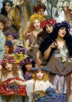 Primavera. 1894. LAWRENCE ALMA TADEMA. Pintor victoriano.https://www.facebook.com/photo.php?fbid=10154826777977164&set=o.432625356772883&type=3&theater
