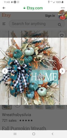 Christmas Mesh Wreaths, Fall Wreaths, Autumn Crafts, Holiday Crafts, Fall Scarecrows, Autumn Decorating, Fall Home Decor, How To Make Wreaths, Diy Wreath