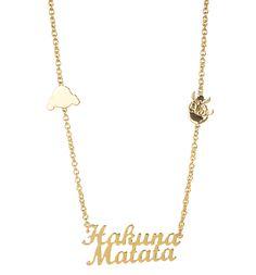 Gold �berzogene Timon Und Pumba Hakuna Matata K�nig Der L�wen Von Disney Couture Halskette