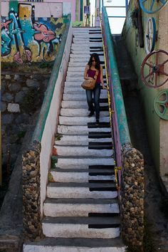 Coolest steps ever in the Historic Quarter of the Seaport City of Valparaíso (Chile)