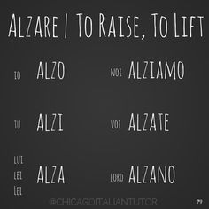 Alzare / to Raise, Lift