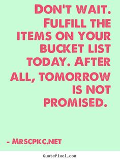 A Lesson from Talia Joy Castellano -Fulfill Your Bucket List  #bucketlist #momblog #life