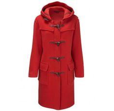 red wool duffle coat - classic!