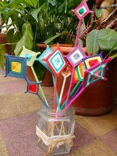 MANDALAS tutores para macetas.  Cosas de Flor @cosasdeflor en Facebook
