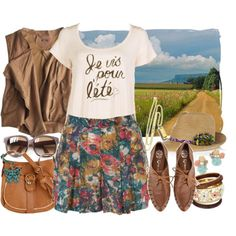 "Oxford outfit I like! LOVE the floral skirt! Since I take French I should know how to translate that but all I can get is "" I somethin somethin summer"" lol"