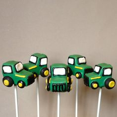 Tractor Cake Pops for sale on Etsy