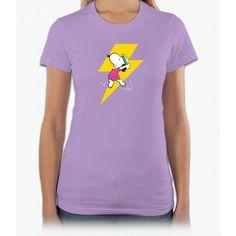 Peanuts Snoopy Dance Lightnin Tee Short Sleeve Women T-Shirt