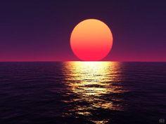 海に沈む夕日 - 海人の深深たる海底に向いてー深海の不思議ー