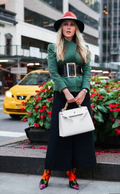 Rock a wide belt-- one of this 2017 Fall season's hottest trends!