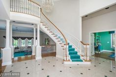 What a statement staircase! #staircase #grandentryway #stairs