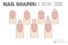 A simple guide to nail shapes, with recommendations about which are the strongest and most flattering for different nail types.