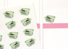 HM07  Small Laundry Basket Planner Stickers by PopFizzPaper